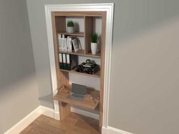 Alcove Office with keyboard area open