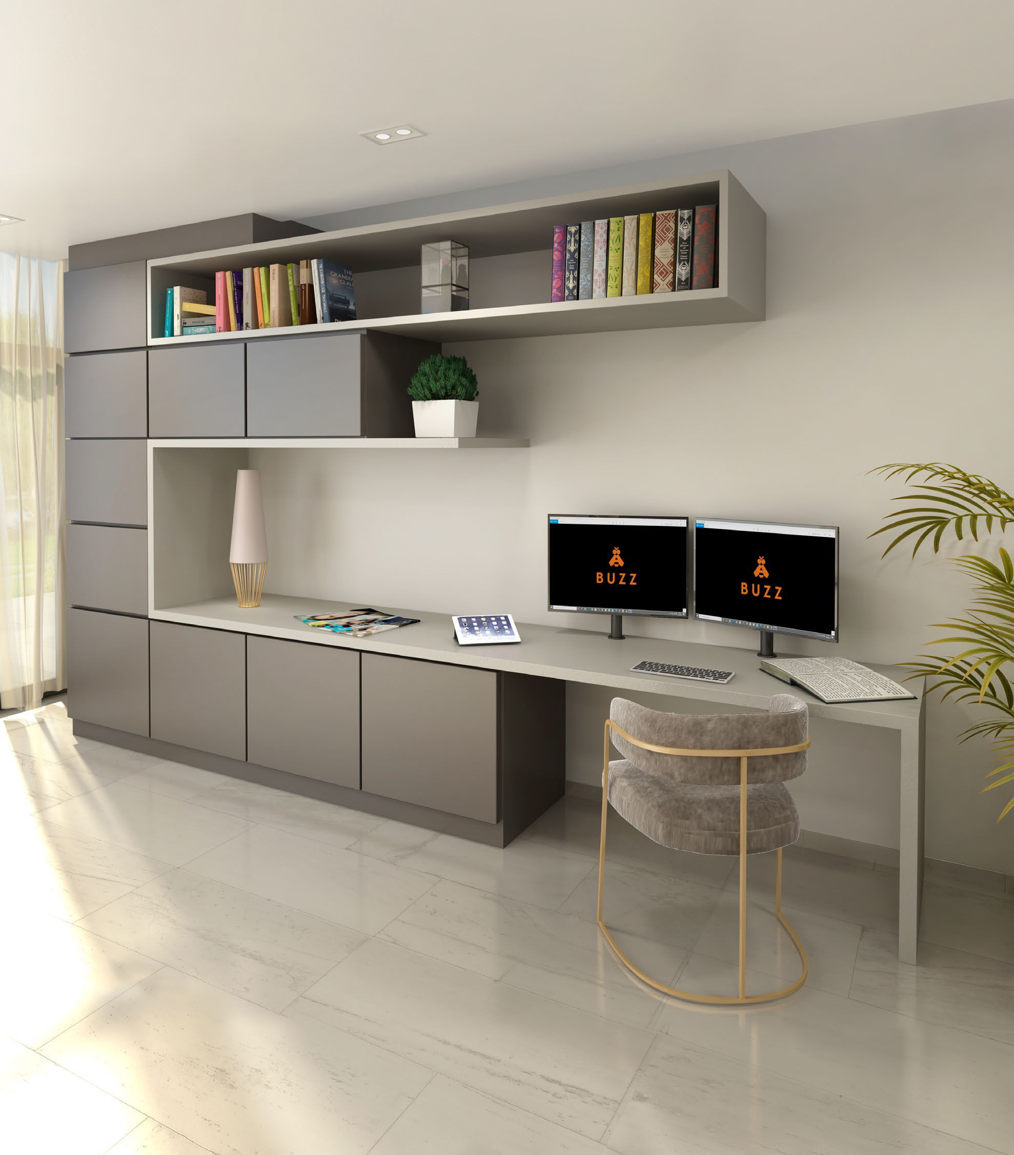 A Home Hive Workspace rendering